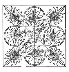 greek square panel is a greek temple vintage vector image