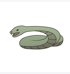 Green cartoon snake vector