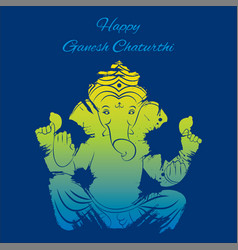 happy ganesh chaturthi poster design vector image