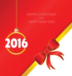 happy new year with bow vector image