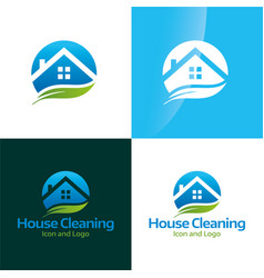House cleaning icon and logo 2 vector