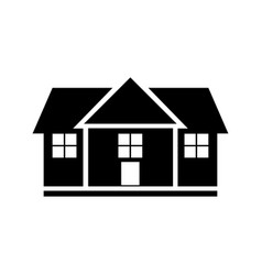 house glyph black icon isolated on white vector image
