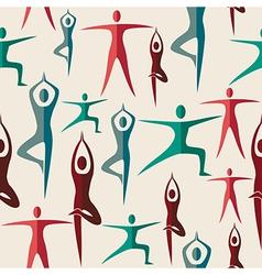 India yoga seamless pattern vector