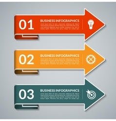 Infographic arrows with white border vector