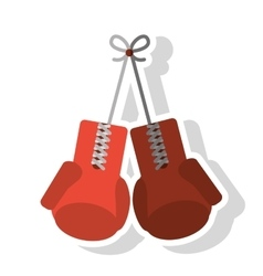 Isolated gloves of fitness gym vector