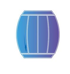 line wine barrel beverage to celebration vector image