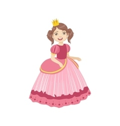 Little Girl With Ponytails Dressed As Fairy Tale vector image