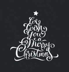 merry christmas calligraphy text art design vector image