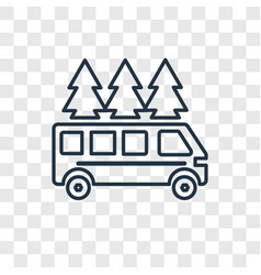 motorhome concept linear icon isolated on vector image
