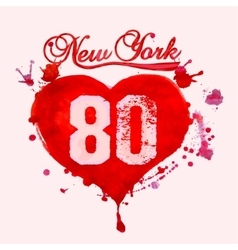 New York City Typography vector image vector image