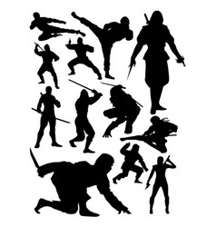 ninja silhouette vector image
