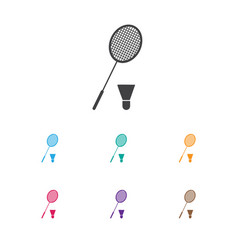 Of camping symbol on tennis vector