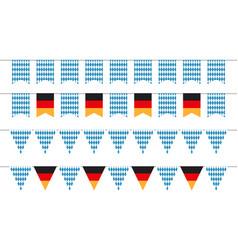 oktoberfest garlands bunting flags vector image