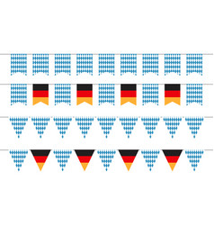 oktoberfest garlands oktoberfest bunting flags vector image