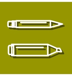 Permanent marker and ball point pen vector image