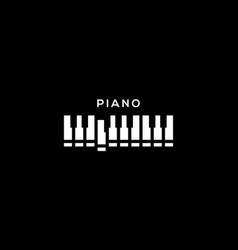 piano logo vector image