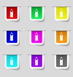 Plastic bottle with drink icon sign Set of vector image