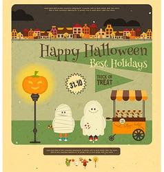 Postcard Halloween vector