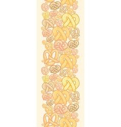 Pretzels vertical seamless pattern background vector