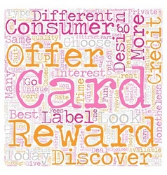 Private Label Reward Credit Cards text background vector