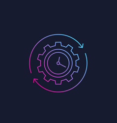 Production cycle icon linear style vector
