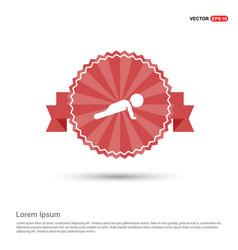 Push ups icon - red ribbon banner vector
