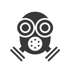 respirator police related solid icon vector image