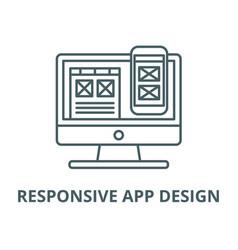responsive app design line icon linear vector image