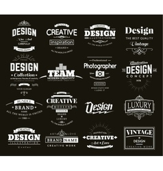 Retro Design Creative Vintage labels vector image