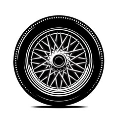 retro wheel spokes for a motorcycle or car vector image