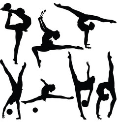 Rhythmic gymnastics vector