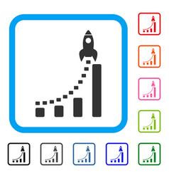 rocket business start framed icon vector image