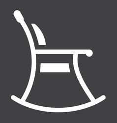 Rocking chair solid icon furniture and interior vector