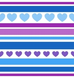 Seamless patterns with hearts fabric texture vector image