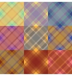 Seamless tartan pattern set vector image