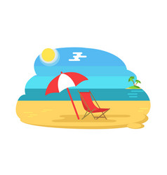 seaside coastline holiday vector image