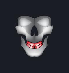 skull design template for sport mascot vector image