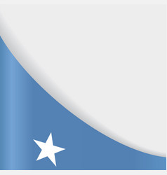 somalian flag background vector image