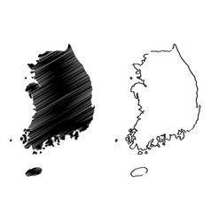 south korea map vector image