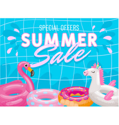 special offers summer sale banner poster pink vector image