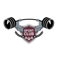 Sport club logo modern fitness or gym center vector