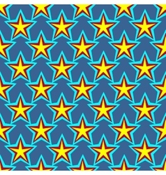 Star geometric seamless pattern 6107 vector image