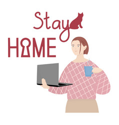 Stay home vector