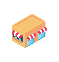 store building online shopping isometric icon vector image