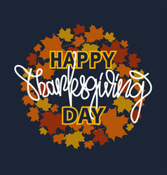 thanksgiving typography banner with lettering vector image