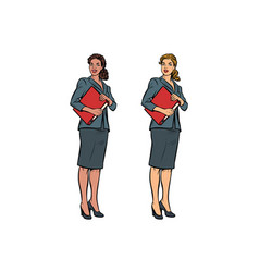 Two female accountant african american vector