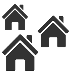 Village Buildings Flat Icon vector image