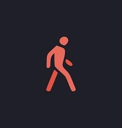 Walk Man computer symbol vector