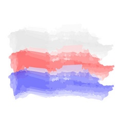 Watercolor flag of russia vector