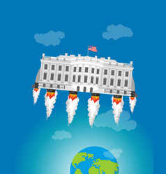 white house in space usa president residence vector image